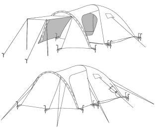 Skizze 4 Personen Iglu CampingZelt